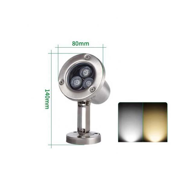 Đèn âm nước đổi màu 3W - Hình 1