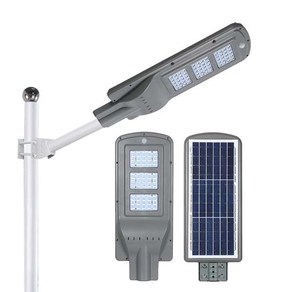 Đèn đường Led 60w tích hợp năng lượng mặt trời - Hình 2