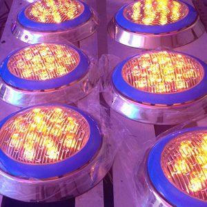 Đèn led hồ bơi HLUWP3-24 RGB vỏ innox