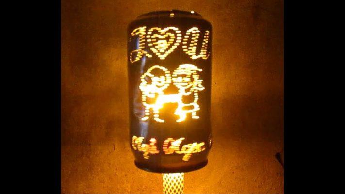 Hướng dẫn làm đèn ngủ từ vỏ lon bia