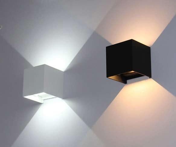 Hình ảnh mẫu đèn ngủ treo tường hình vuông