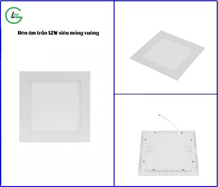 Mẫu đèn âm trần siêu mỏng vuông- Chính hãng tại Việt Nhật Led