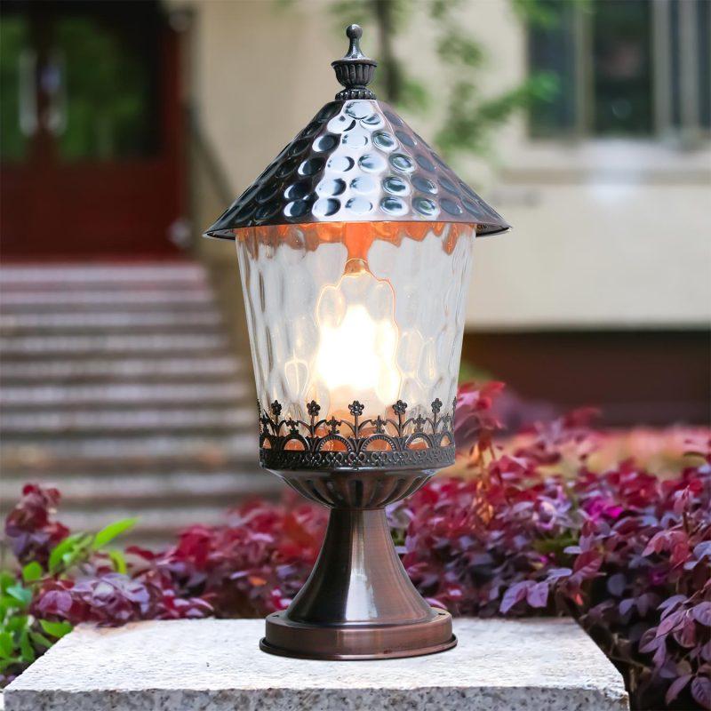 Mẫu đèn trụ sân vườn 1