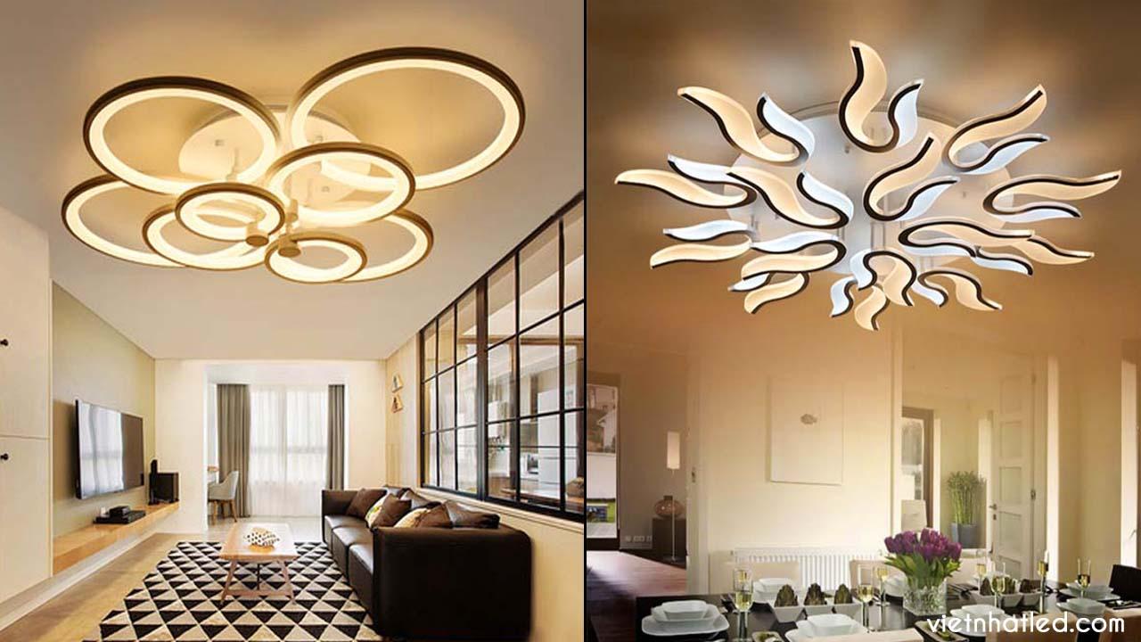 Hình ảnh mẫu đèn ốp trần hiện đại đẹp nhất