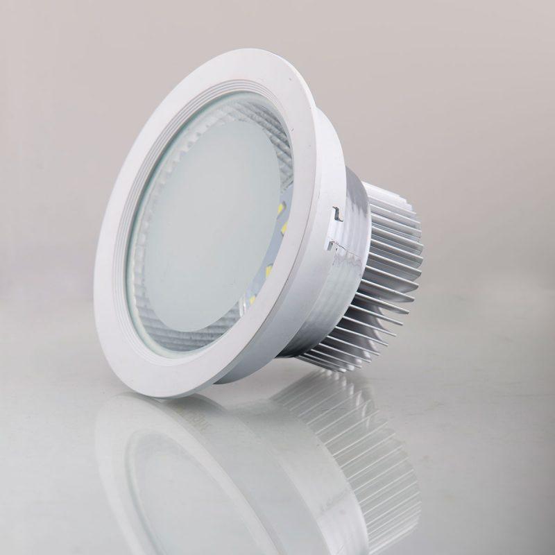 Mẫu đèn âm trần 7w mặt kính
